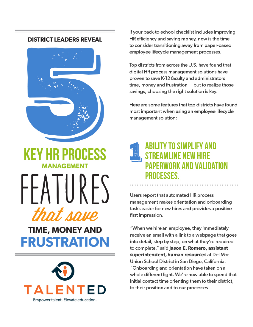 5 Key HR Process Features eBook